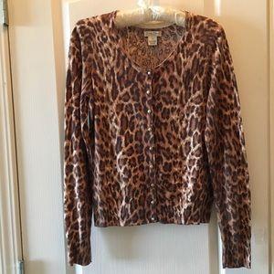 Lucky Brand thin cotton cardigan sweater small